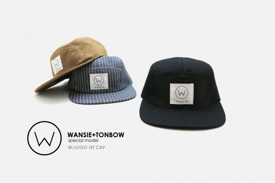2018 WANSIE×TONBOW CAP W LOGO JET CAP -BLACK MODEL 発売のお知らせ
